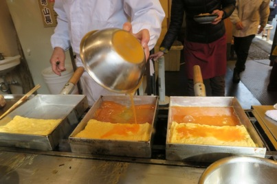 Japanese Omellete in the making